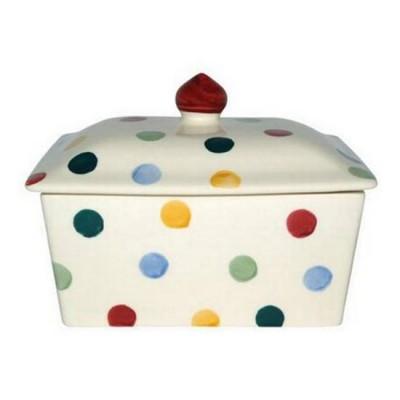 Butter Dish Polka Dots
