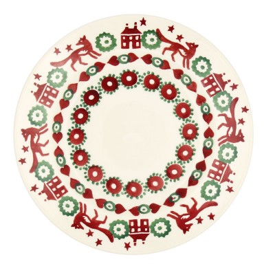 6 1/2 Inch Plate Red & Green