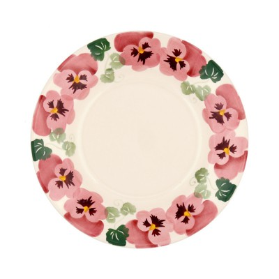 8 1/2 Inch Plate Pink Pansy