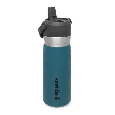 The IceFlow Flip Straw Water Bottle 0,65L Lagoon