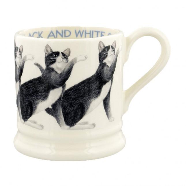 Half Pint Mug Cat Black & White