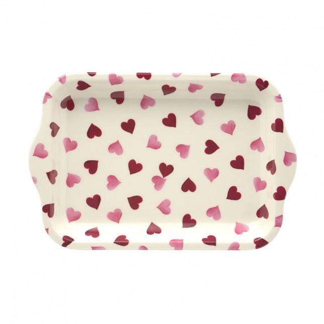 Melamine Tray Pink Hearts