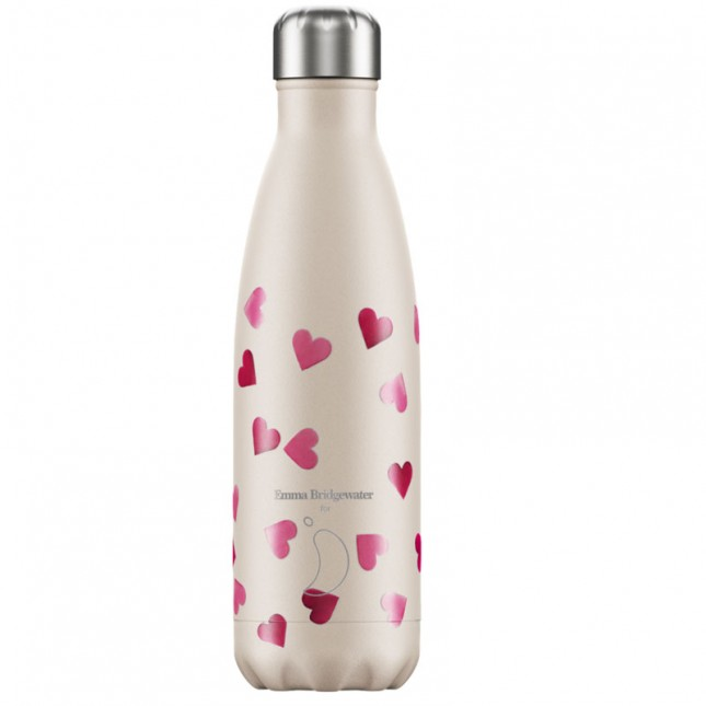 Chilly's Bottle Pink Hearts 500ml