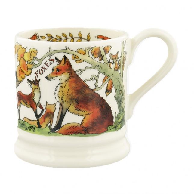 Half Pint Mug Foxes & Jay