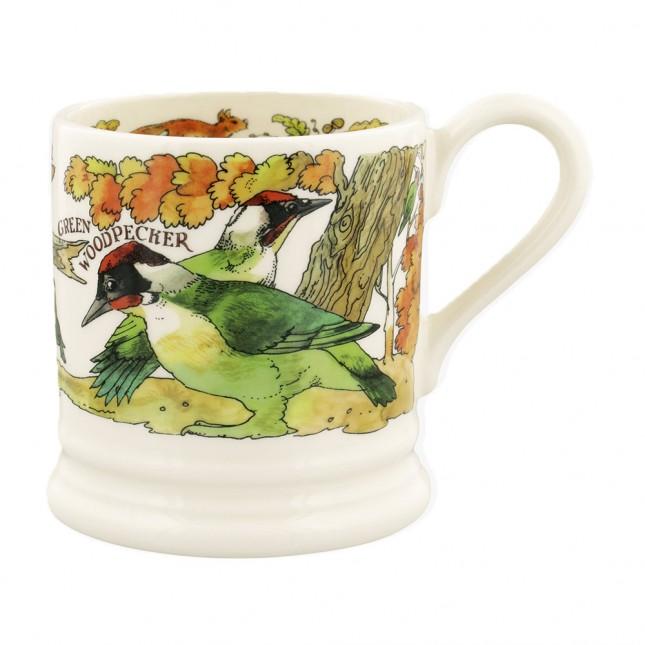 Half Pint Mug Green Woodpecker & Red Squirrel