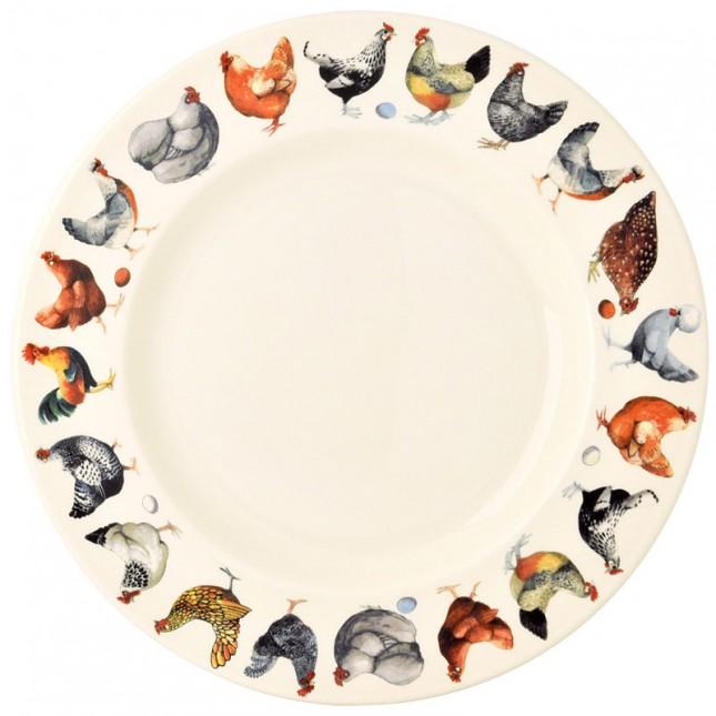 10 1/2 Inch Plate Hen & Toast