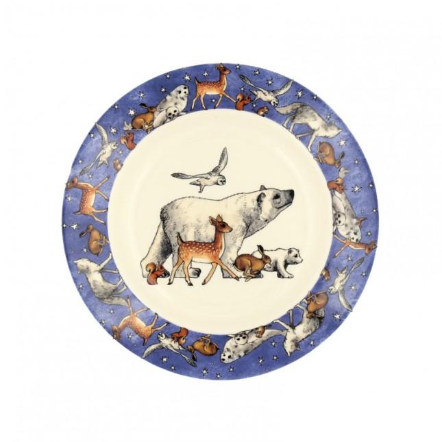8 1/2 Inch Plate Winter Animals