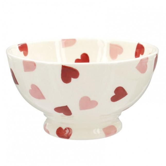 French Bowl Pink Hearts