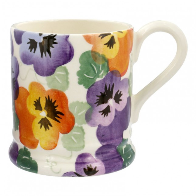 Half Pint Mug Purple Pansy