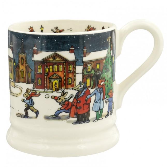 Half Pint Mug Winter Scene 2019