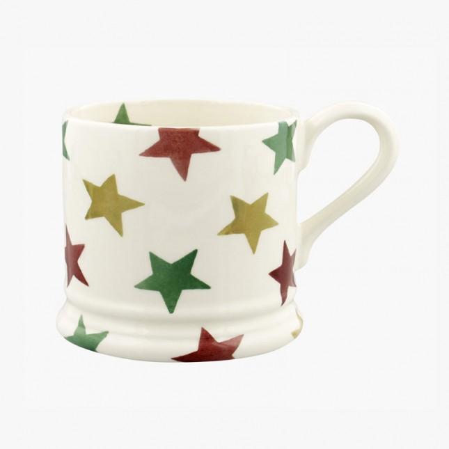 Small Mug Red Green and Gold Star