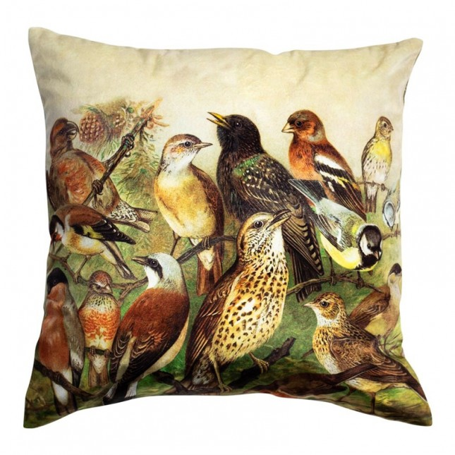 Kussen Fluweel Country Zangvogels