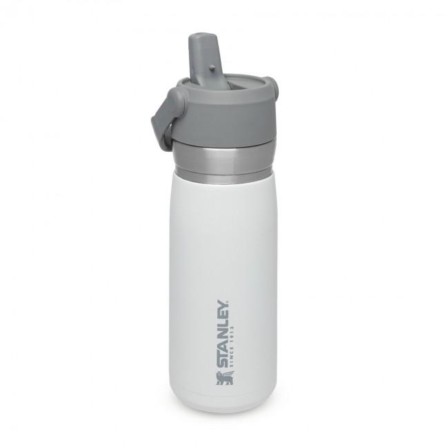 The IceFlow Flip Straw Water Bottle 0,65L Polar