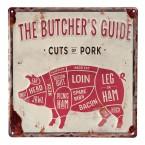 Tekstbord Butcher Varken
