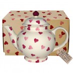 4 Cup Teapot Pink Hearts