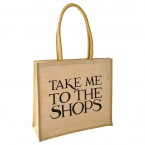 Jute tas Take me to the Shops