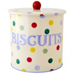 Biscuit Barrel Polka Dots Text