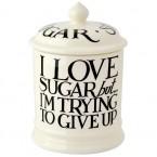 Storage Jar Sugar Black Toast