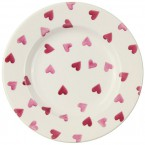 8 1/2 Inch Plate Pink Hearts