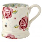 Half Pint Mug Rose & Bee