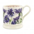 Half Pint Mug Flowers Cornflower