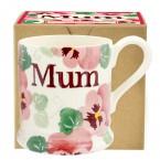 Half Pint Mug Pink Pansy Mum