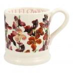 Half Pint Mug Red Wallflower