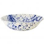 Large Dish Blue Splatter