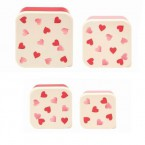 Lunch Box Set Pink Hearts