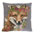 Gobelin Kussen Flower Fox