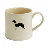 Bailey Mug 250ml Border Collie Cream