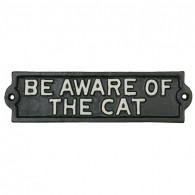 Bord Beware of the cat