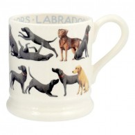 Half Pint Mug Labrador All Over