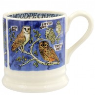 Half Pint Mug Owls & Woodpeckers