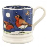 Half Pint Mug Robins in the Snow