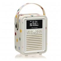 Bluetooth Retro Mini Radio Polka Dots