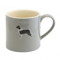 Bailey Mug 250ml Border Collie Grey