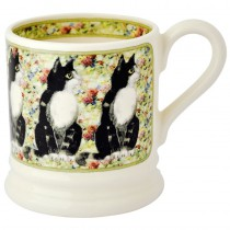 Half Pint Mug Cat Black & White