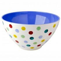 Melamine Salad Bowl Polka Dots