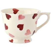 Cup & Saucer Pink Hearts (small)