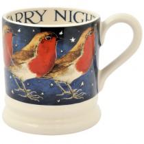 Half Pint Mug Robin in a Starry Night