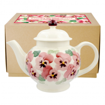 4 Cup Teapot Pink Pansy
