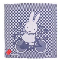 Theedoek Nijntje op de fiets