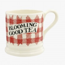 Half Pint Mug Red Gingham