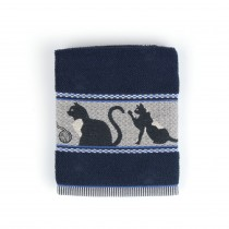 Handdoek BC Cats Dark Blue