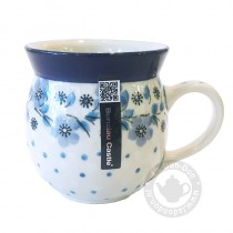 Farmers Mug Blue White Love