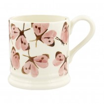 Half Pint Mug Pink Cabbage White Butterfly
