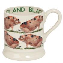 Half Pint Mug Sandy & Black