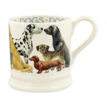 Half Pint Mug Dogs All Over
