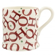 Half Pint Mug Red Hohoho